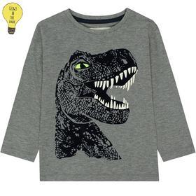 Kn.-Shirt - 807/ANTHRA MEL.