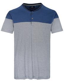 NOS He. Henley Shirt 1/2 Arm - 669/NAVY/SKY/WHITE