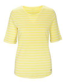 (S)NOS Rdh.-Shirt,1/2 Arm,Stre - 300/300 GELB-WEIS