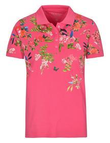 (S) NOS Pique` Polo-Shirt 1/2 - 429/429 RASPBERRY