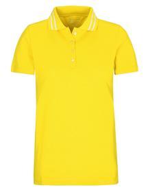 (S)NOS Pique` Polo-Shirt uni - 302/302 YELLOW