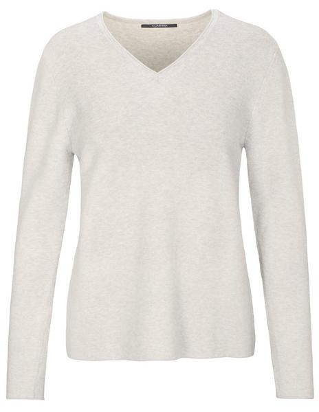 (S)NOS V-Pullover, Gots - 412/412 HIBISCUS