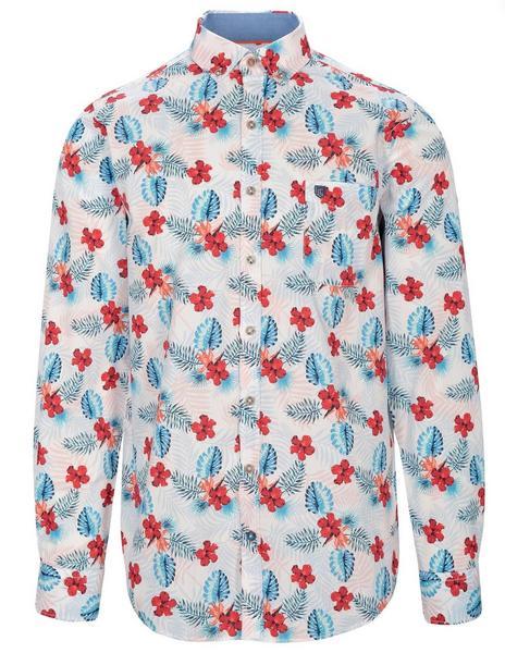 Staccato BASEFIELD Freizeithemd in Hawaii-Optik MODERN FIT