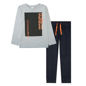 KB Pyjama - 800/GREY MEL./BLACK