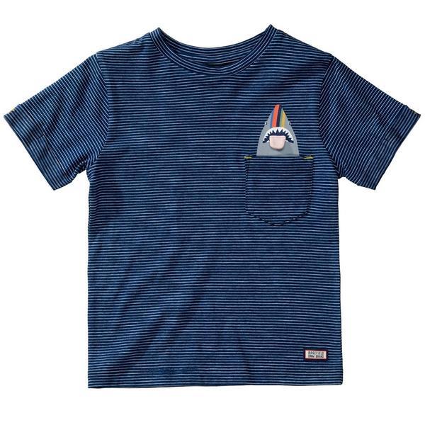 Kn.-T-Shirt - 638/INDIGO STRIPE