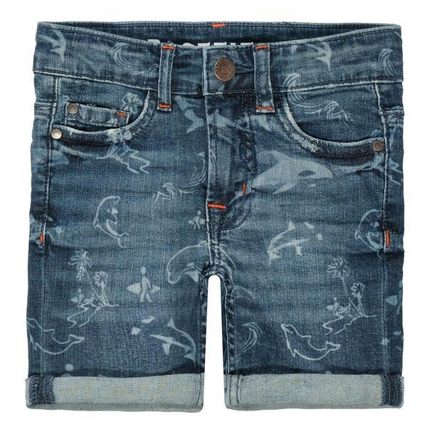 Kn.-Jeans-Bermuda - 609/BLUE DENIM