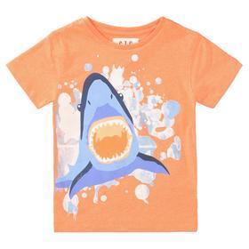 Staccato T-Shirt mit gummierten Print