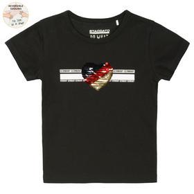 Staccato T-Shirt mit Print und Wendepailletten