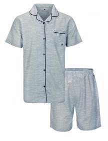 Herren Web Pyjama 1/2-XL