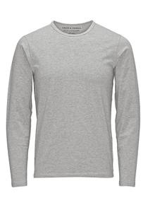 BASIC O-NECK TEE L/S NOOS - 131297/LIGHT GREY MELA