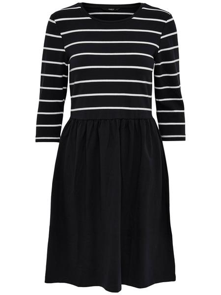 ONLAMBER 3/4 FIT AND FLAIR DRESS NOOS