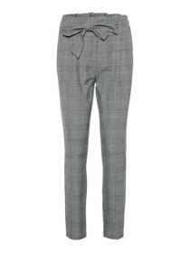 VMEVA HR LOOSE PAPERBAG CHECK PANT