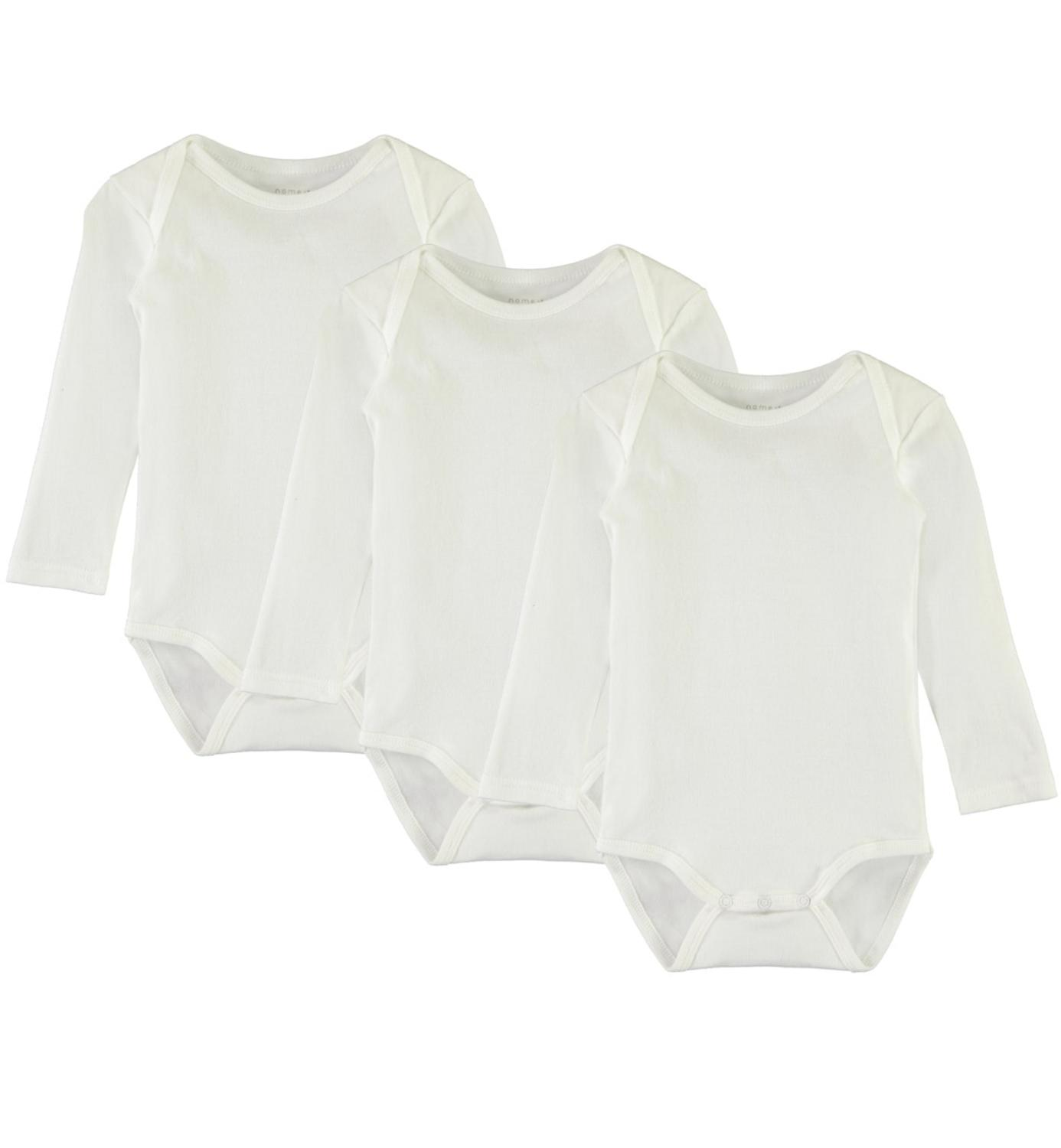 NBNBODY 3P LS SOLID WHITE NOOS