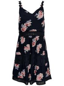 ONLKARMEN ANNE S/L SHORT DRESS WVN, Night Sky/ELLA PRINT