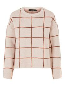 VMDOFFY JACQUARD LS CHECK BLOUSE BOO