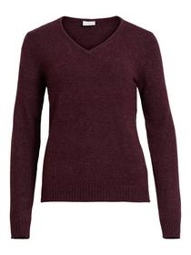 VIRIL V-NECK L/S KNIT TOP-FAV