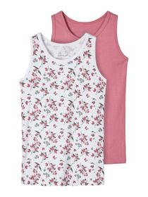 NMFTANK TOP 2P HEATHER ROSE AOP NOO - 195619/Heath
