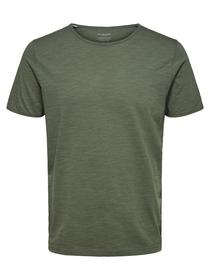 SLHMORGAN SS O-NECK TEE W NOOS - 198288/Sea Spray