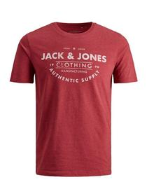 JJEJEANS TEE SS CREW NECK NOOS JR - 177222/Rio Red