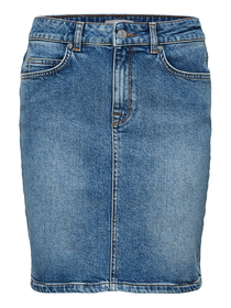 SLFKENNA MW MID BLUE DENIM SKIRT NOOS