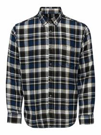 ONSSIMON LS Y/D CHECK FLANNEL SHIRT