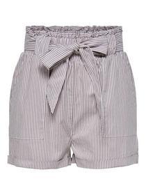 Gestreifte High Waist Shorts