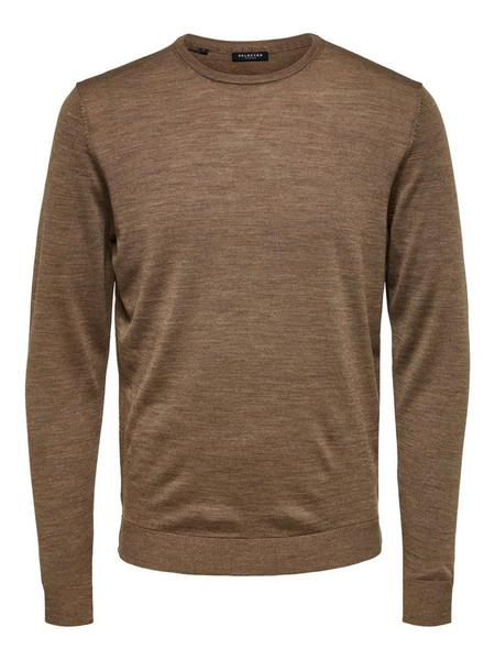 SLHTOWER NEW MERINO CREW NECK B NOOS