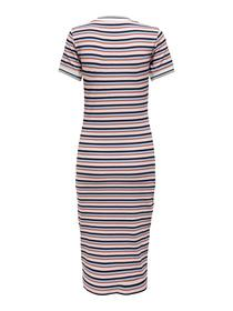 ONLLOU S/S STRIPE DRESS JRS