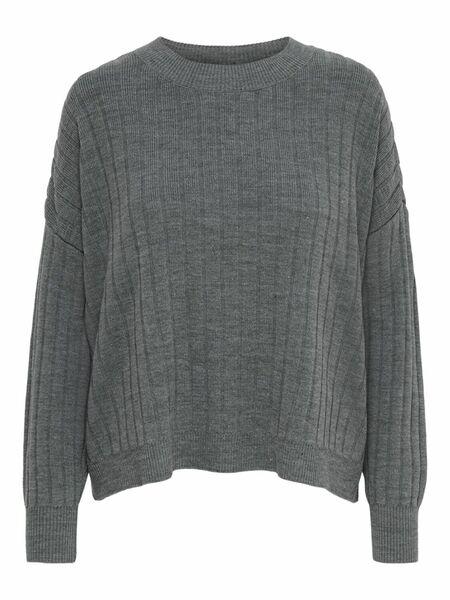 ONLTESSA L/S PULLOVER KNT - 179075/Medium Grey Mel