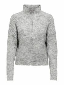 ONLEMILY LIFE L/S ZIP PULLOVER KNT
