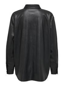ONLRUMA L/S OVERSIZED PU SHIRT - 177911/Black