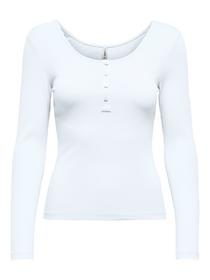 ONLSIMPLE LIFE L/S BUTTON TOP JRS