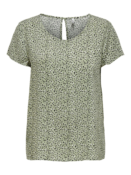 ONLFIRST ONE LIFE SS AOP TOP NOOS W, Seagrass/MULTI DOT