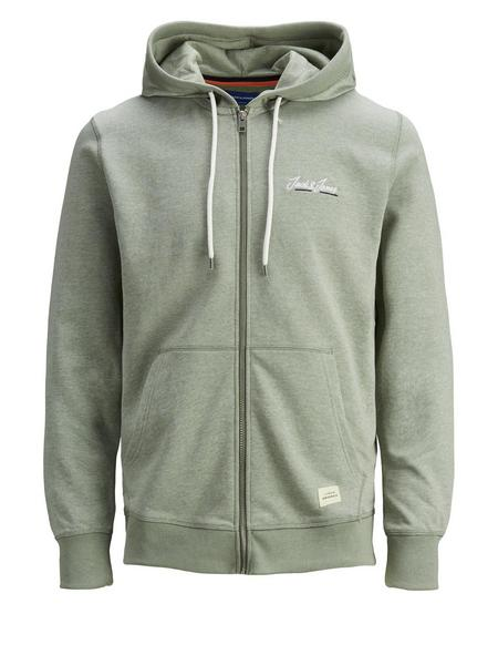 JORTONS SWEAT ZIP HOOD NOOS, Sea Spray/MELANGE