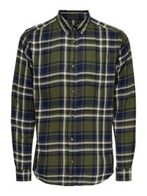 ONSSIMON LIFE LS CHECKED FLANNEL SHIRT