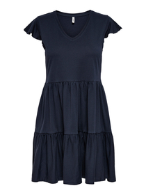 ONLMAY LIFE CAP SLEEVES FRILL DRESS