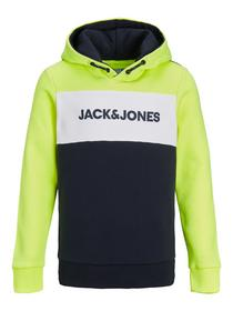 JJENEON LOGO BLOCKING SWEAT HOOD JR