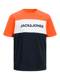 JJENEON LOGO BLOCKING TEE SS JR