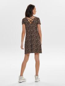 ONLBERA BACK LACE UP S/S DRESS JRS