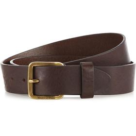Belt, leather logo buckle