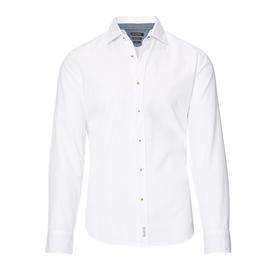 Shirt, long sleeve, shark collar