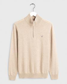 SUPERFINE LAMBSWOOL HALF ZIP
