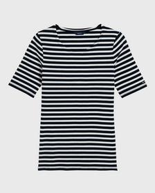 Rib T-Shirt mit längerem Arm