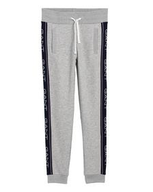 O1. GANT ICON SWEAT PANTS, LIGHT GREY MELANGE