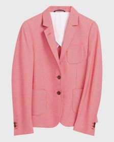 O1. JERSEY PIQUE BLAZER, WATERMELON RED