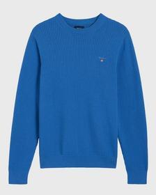 Texturierter Baumwoll-Pullover