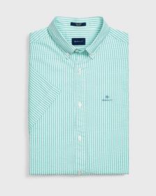 Gestreiftes Kurzarm Tech Prep™ Seersucker Hemd