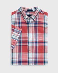 Klassisches Kurzarm Madras Hemd