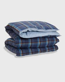 FLANNEL COAST CHECK SINGLE DUVET