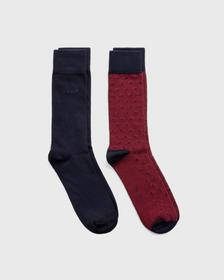 2er-Pack Dot & Solid Socken